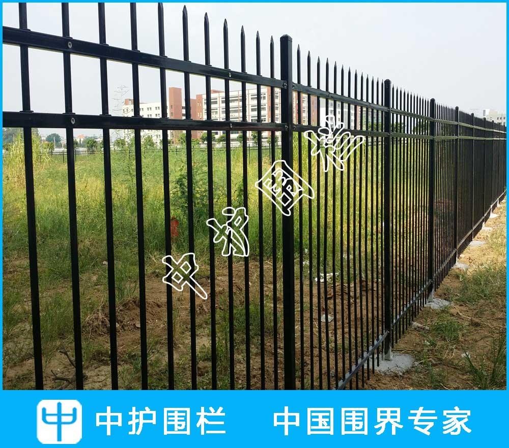 佛山顺德工厂围墙锌钢栅栏工程项